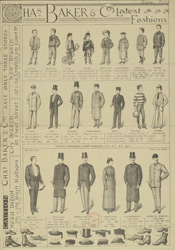Advert for Chas. Baker & Co, tailor & clothier